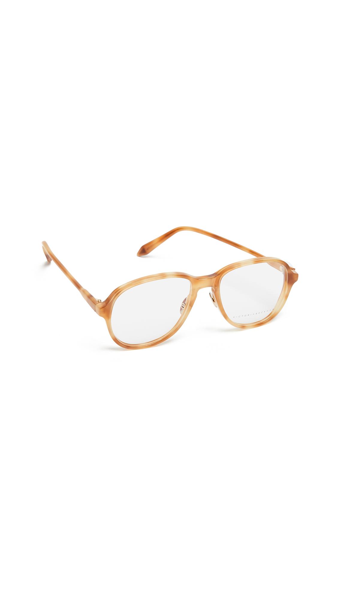 Victoria Beckham Fine Oval Glasses - Ginger Tort