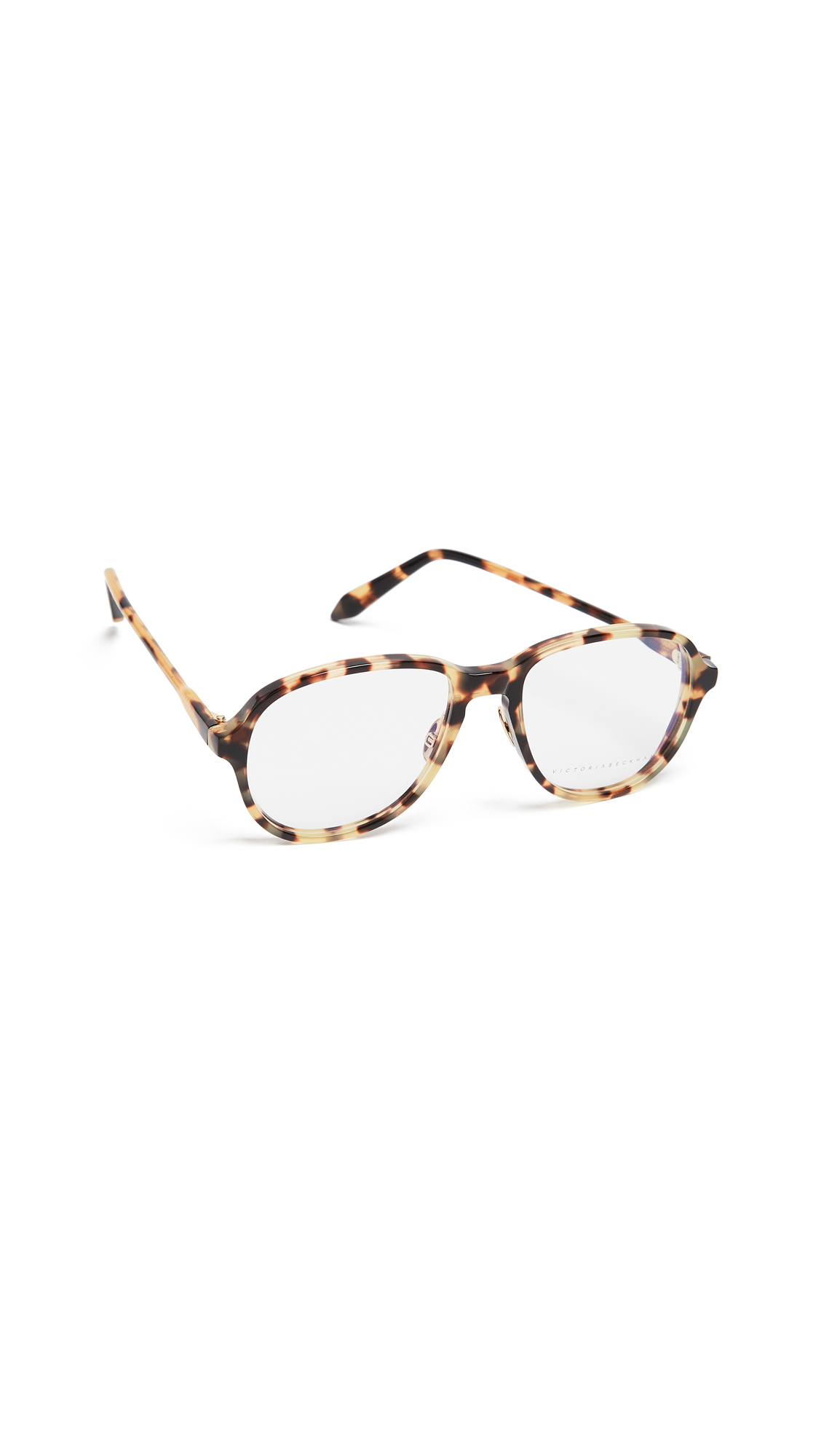 Victoria Beckham Fine Oval Glasses - Yellow Tort