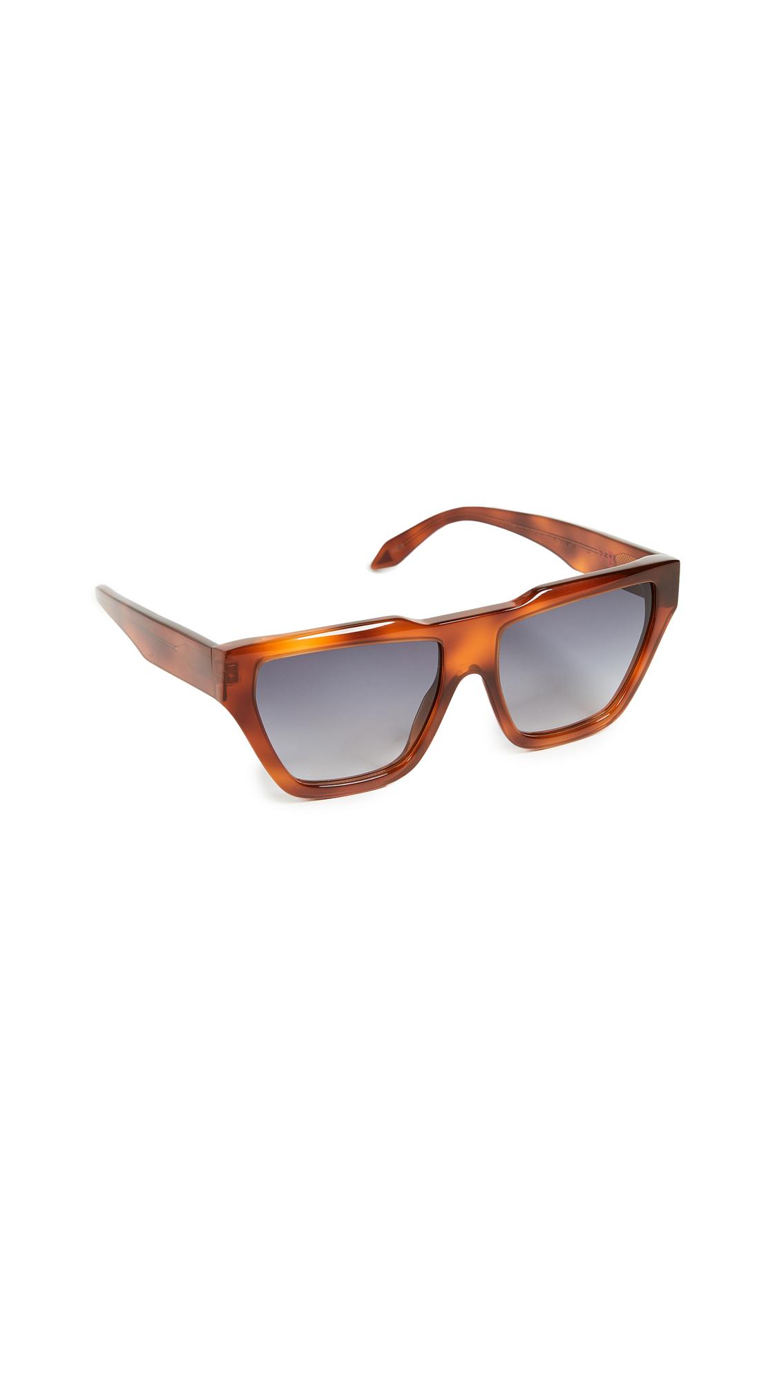 Victoria Beckham Square Cat Sunglasses - Vintage Tort