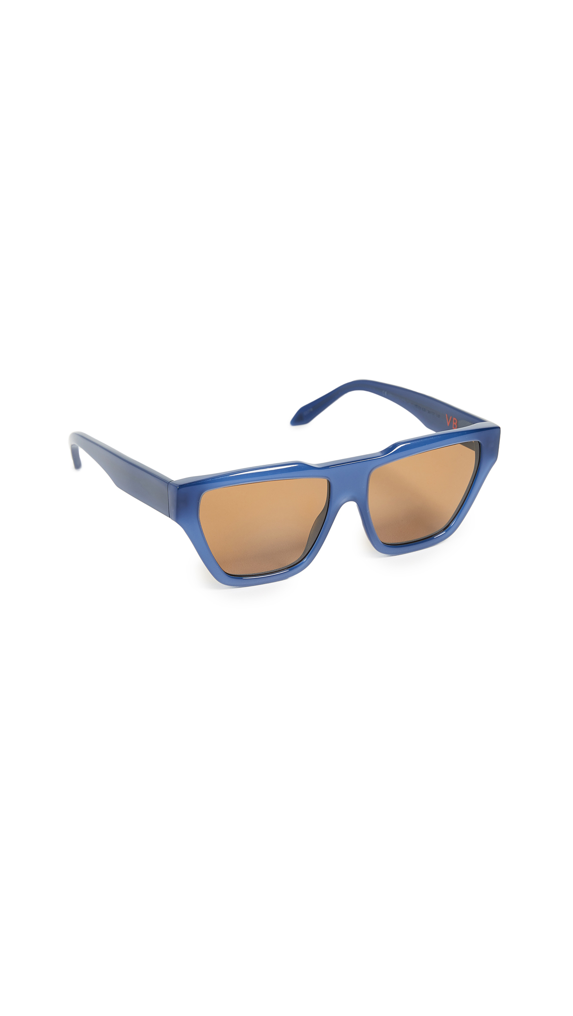 Victoria Beckham Square Cat Sunglasses - Dark Navy