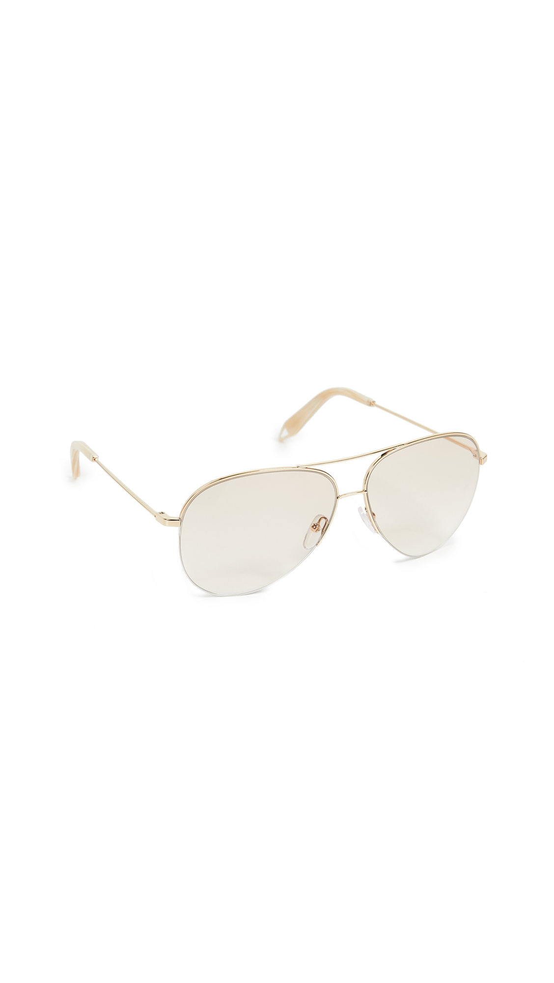 Victoria Beckham Classic Victoria Sunglasses - Grad Nude And Blonde Gold