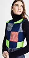 Victoria Beckham Patchwork Polo Neck Sweater