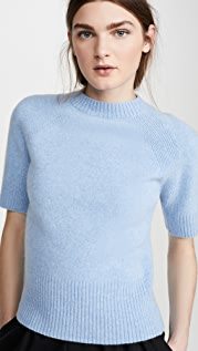 Victoria Beckham Short Sleeve Raglan Sweater