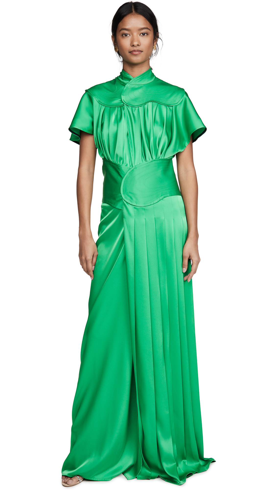 Victoria Beckham Contrast Panel Floor Length Dress - 50% Off Sale