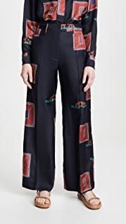 Victoria Beckham Fluid Wide Leg Trousers