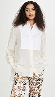 Victoria Beckham Contrast Bib Shirt