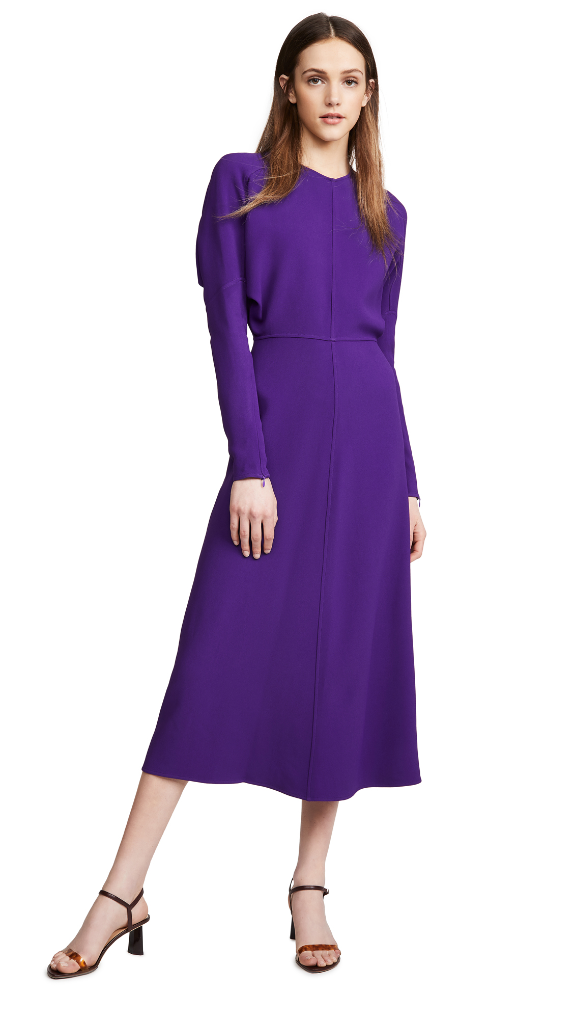 Victoria Beckham Long Sleeve Dolman Midi Dress - 30% Off Sale