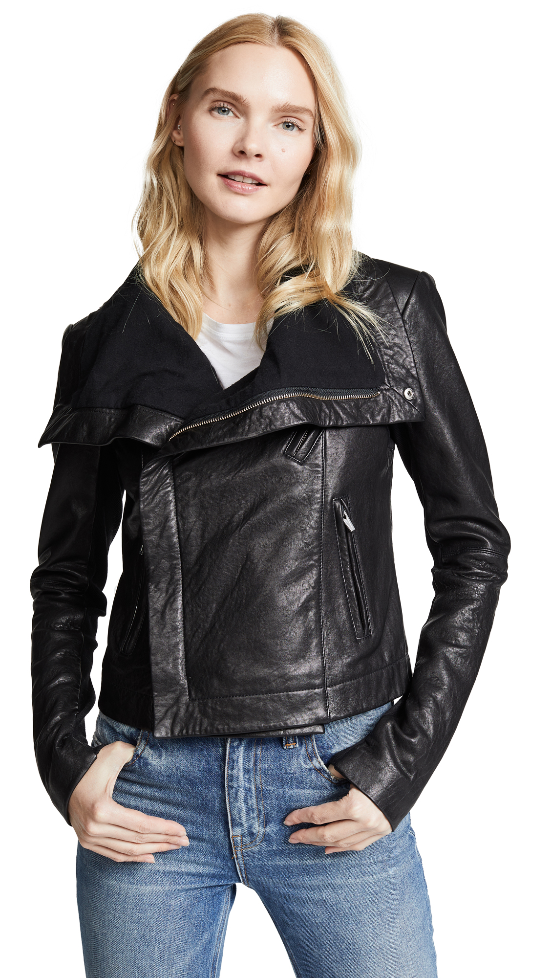 Buy VEDA Max Classic Leather Jacket online beautiful VEDA Clothing, Jackets