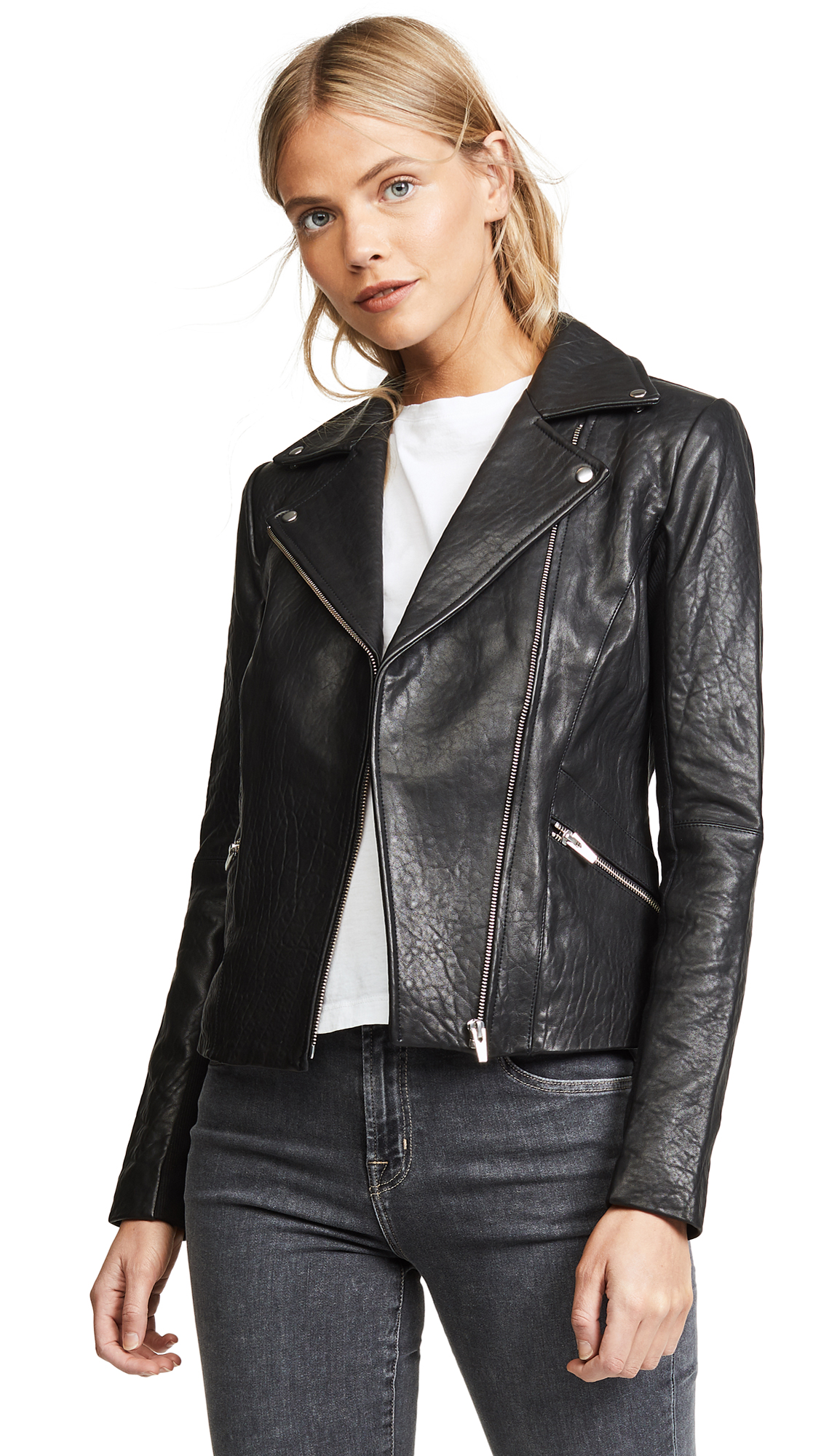 VEDA Dallas Leather Jacket - Black