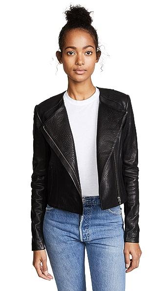 VEDA Dali Classic Bubble Jacket In Black
