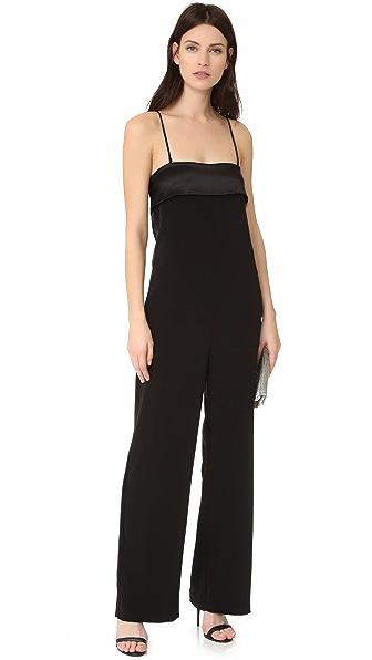 VEDA Black Tie Jumpsuit - Black
