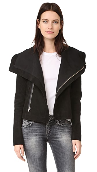 VEDA Max Suede Jacket In Black