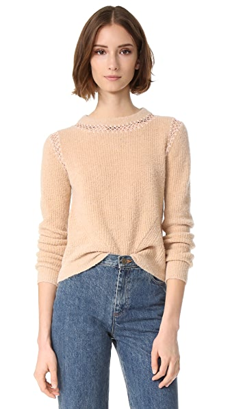 VEDA Note Sweater In Wheat