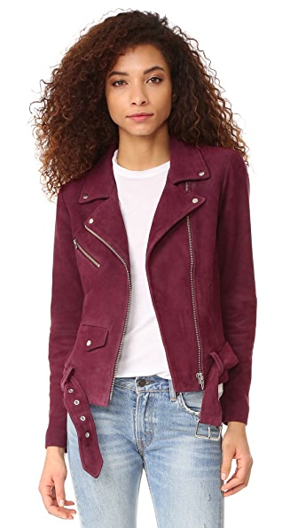 VEDA Jayne Suede Jacket - Grape Soda