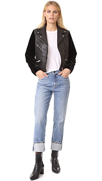 VEDA Puzzle Velvet & Leather Jacket