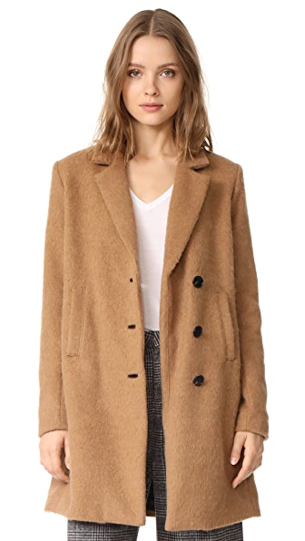 VEDA Ford Coat In Light Camel