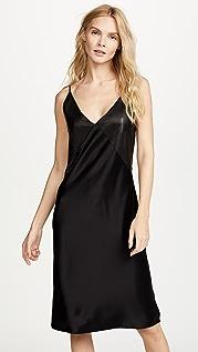 VEDA Pavillion Leather & Satin Dress