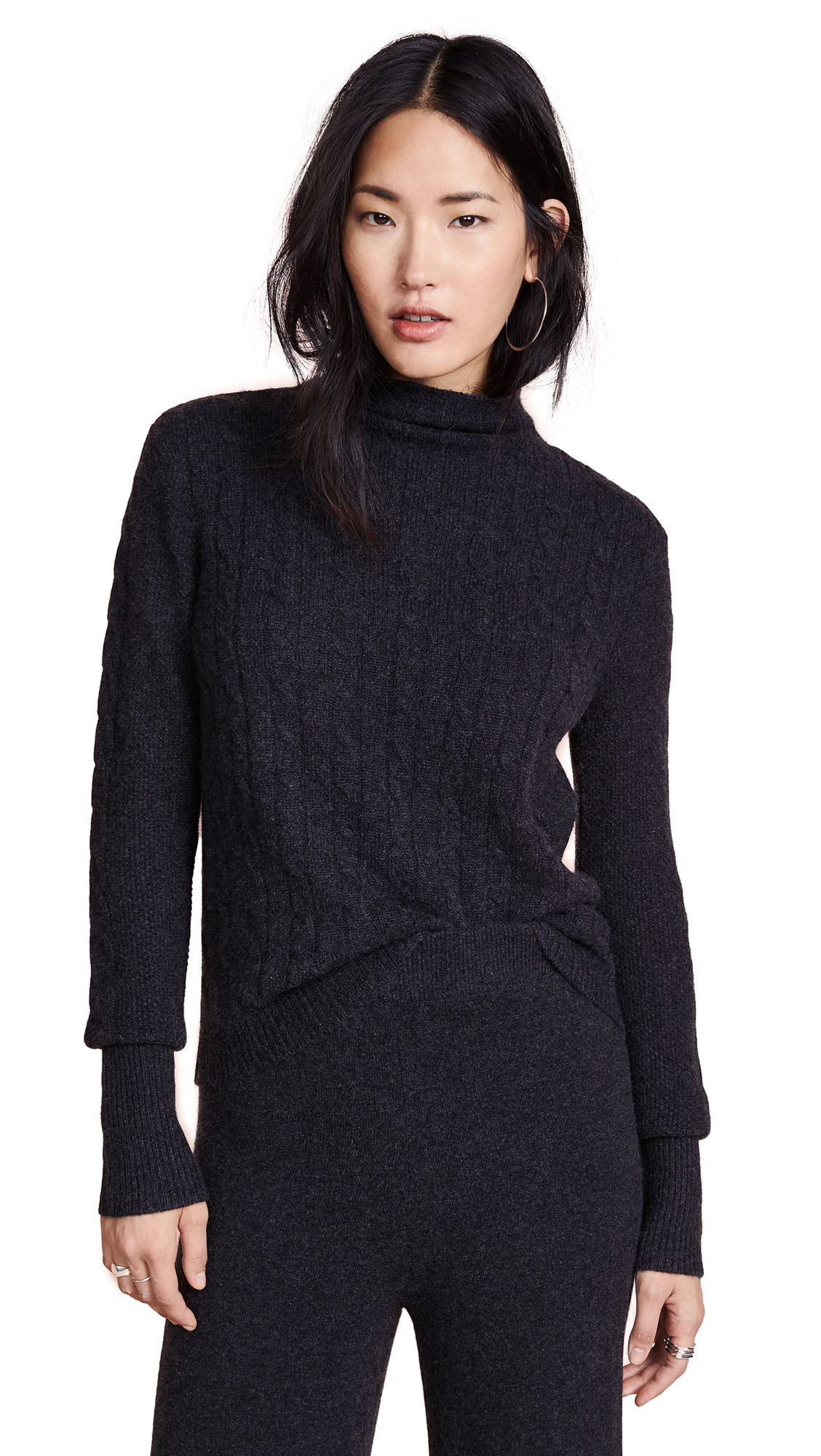 VEDA Josef Cashmere Sweater in Charcoal
