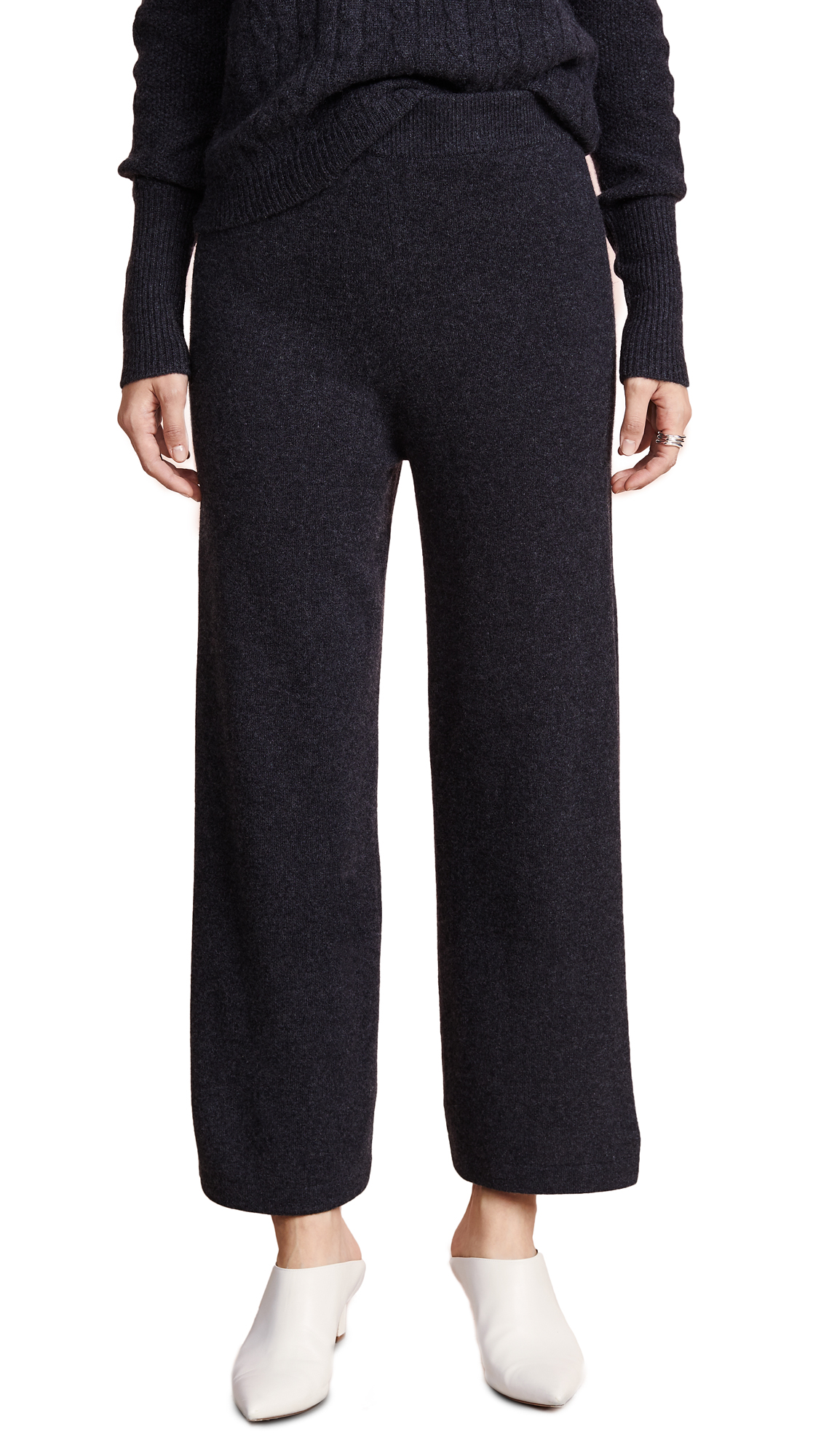 VEDA Palette Cashmere Pants in Charcoal