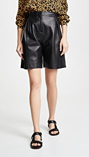 VEDA Milano Smooth Leather Shorts