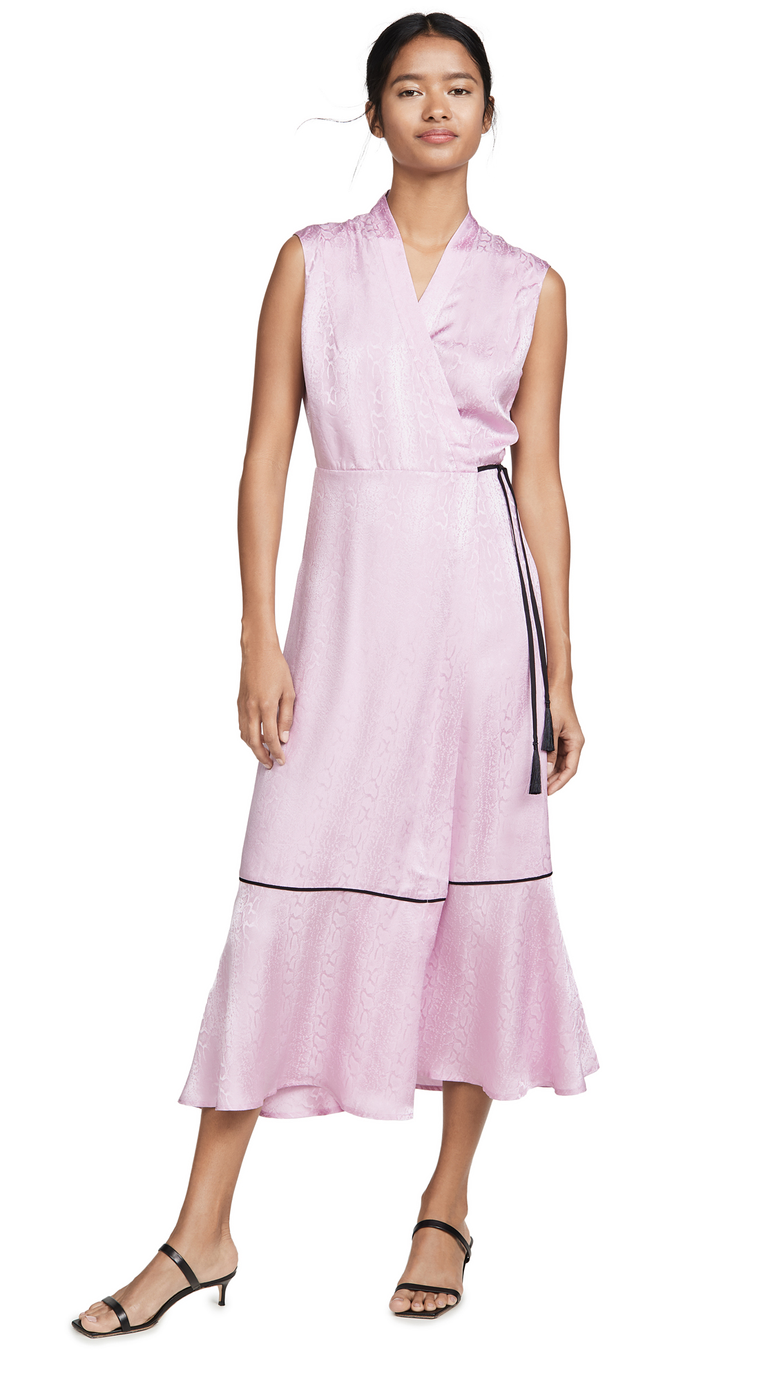 Buy VEDA online - photo of VEDA Bluebonnet Silk Wrap Dress