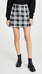 VEDA Circle Leather Skirt