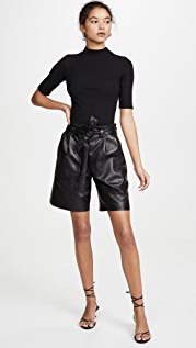 VEDA Luis Leather Shorts