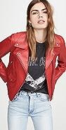 VEDA Mercury Leather Moto Jacket