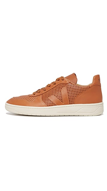 Veja V-10 Leather Bastille Sneakers