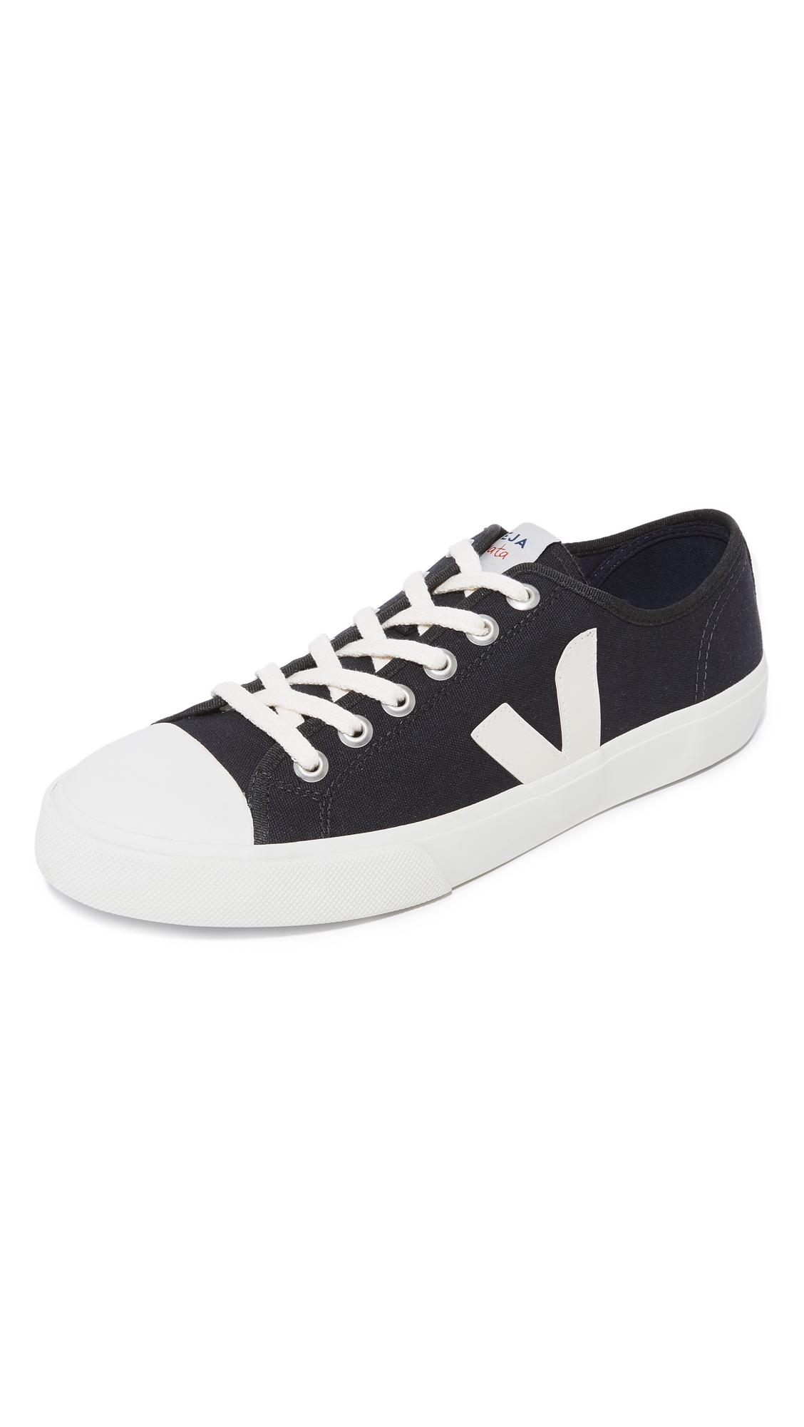 VEJA Wata Rubber-Trimmed Organic Cotton-Canvas Sneakers - Black