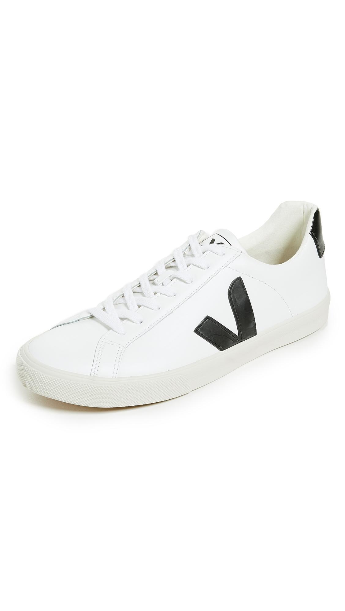 VEJA Esplar Rubber-Trimmed Leather Sneakers - White