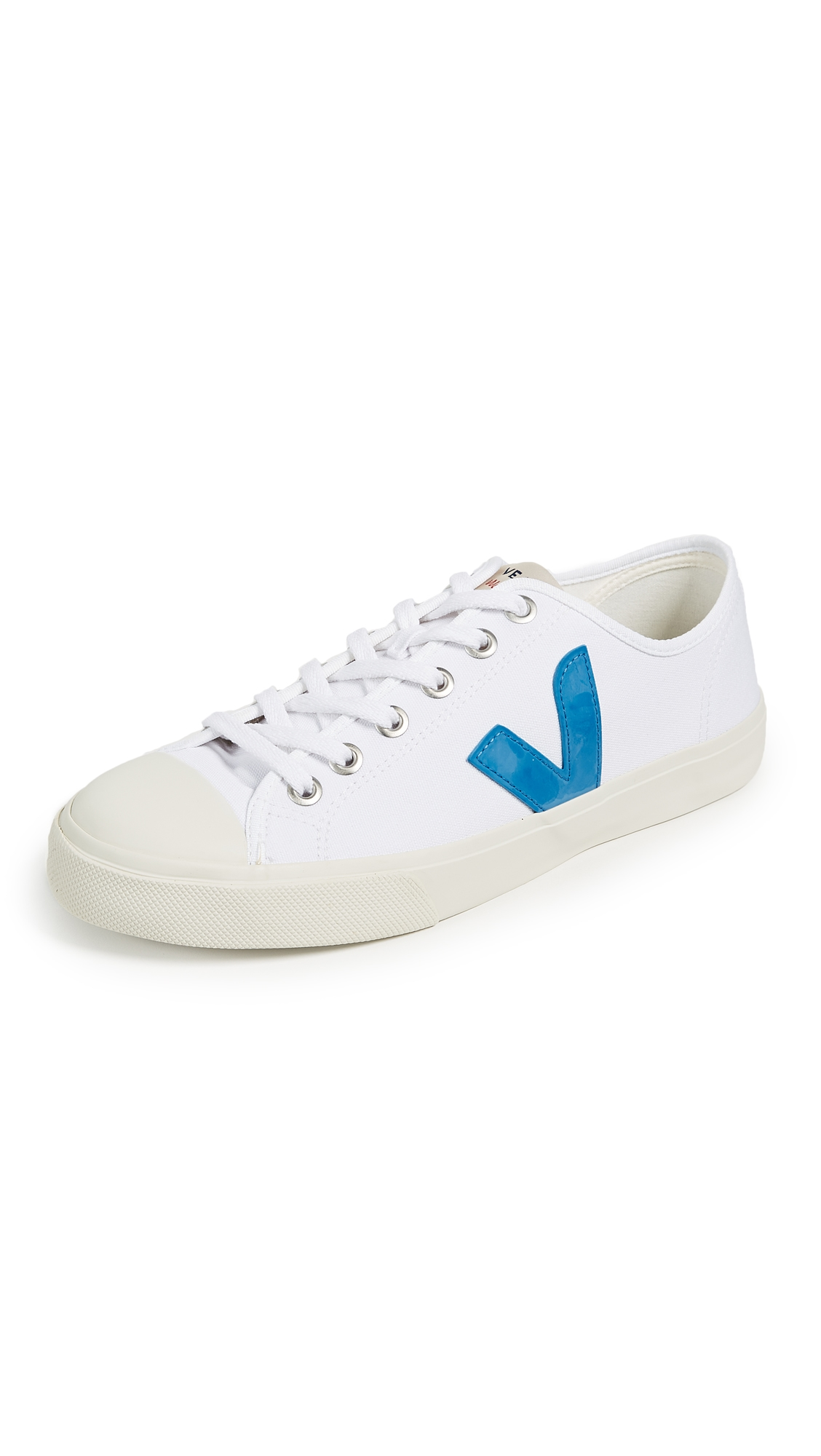 VEJA Wata Rubber-Trimmed Organic Cotton-Canvas Sneakers - White