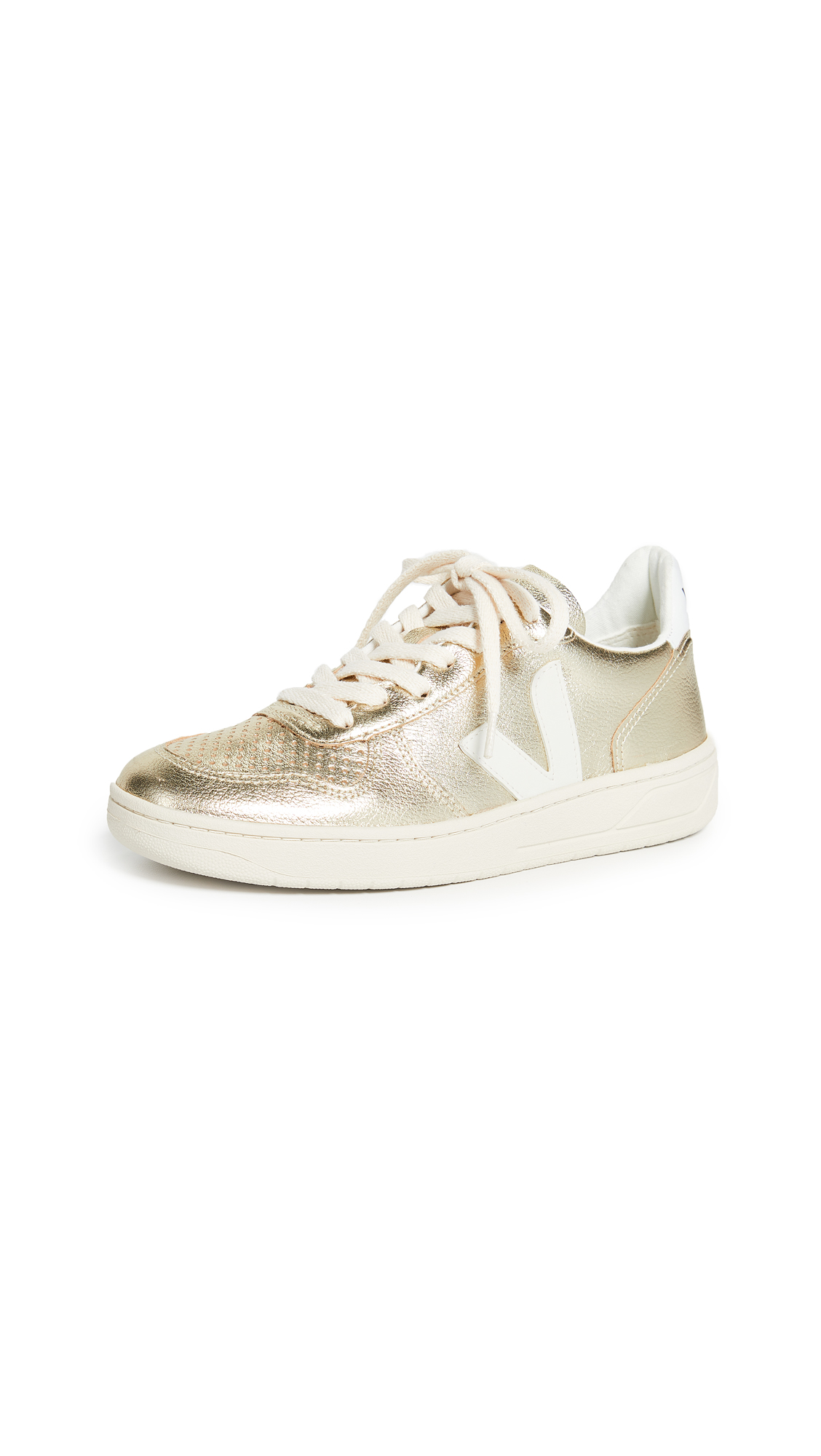 Veja V-10 Sneakers - Gold