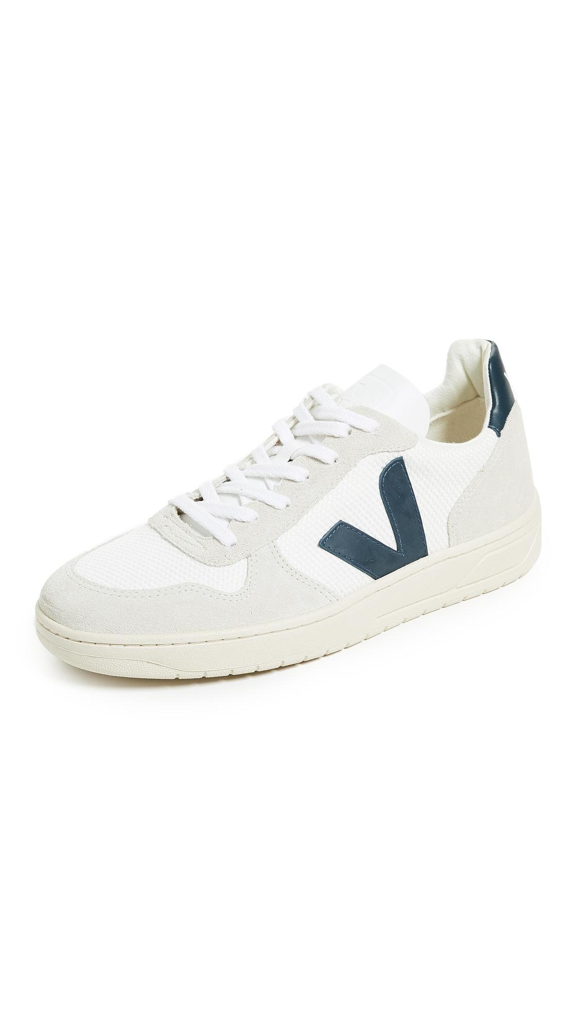 VEJA V 10 B Mesh Sneakers in White