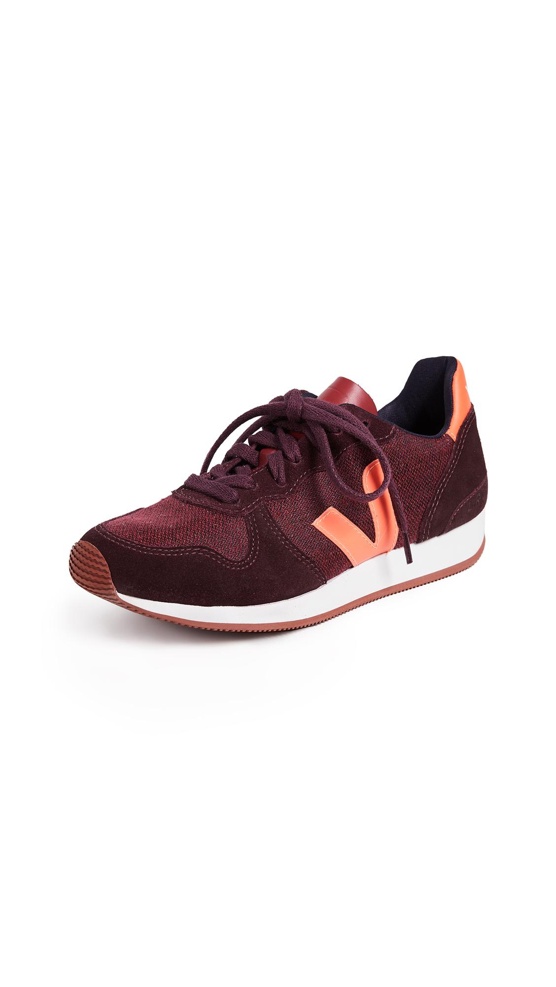 Veja Holiday Sneakers - Pixel/Burgundy/Orange Fluo