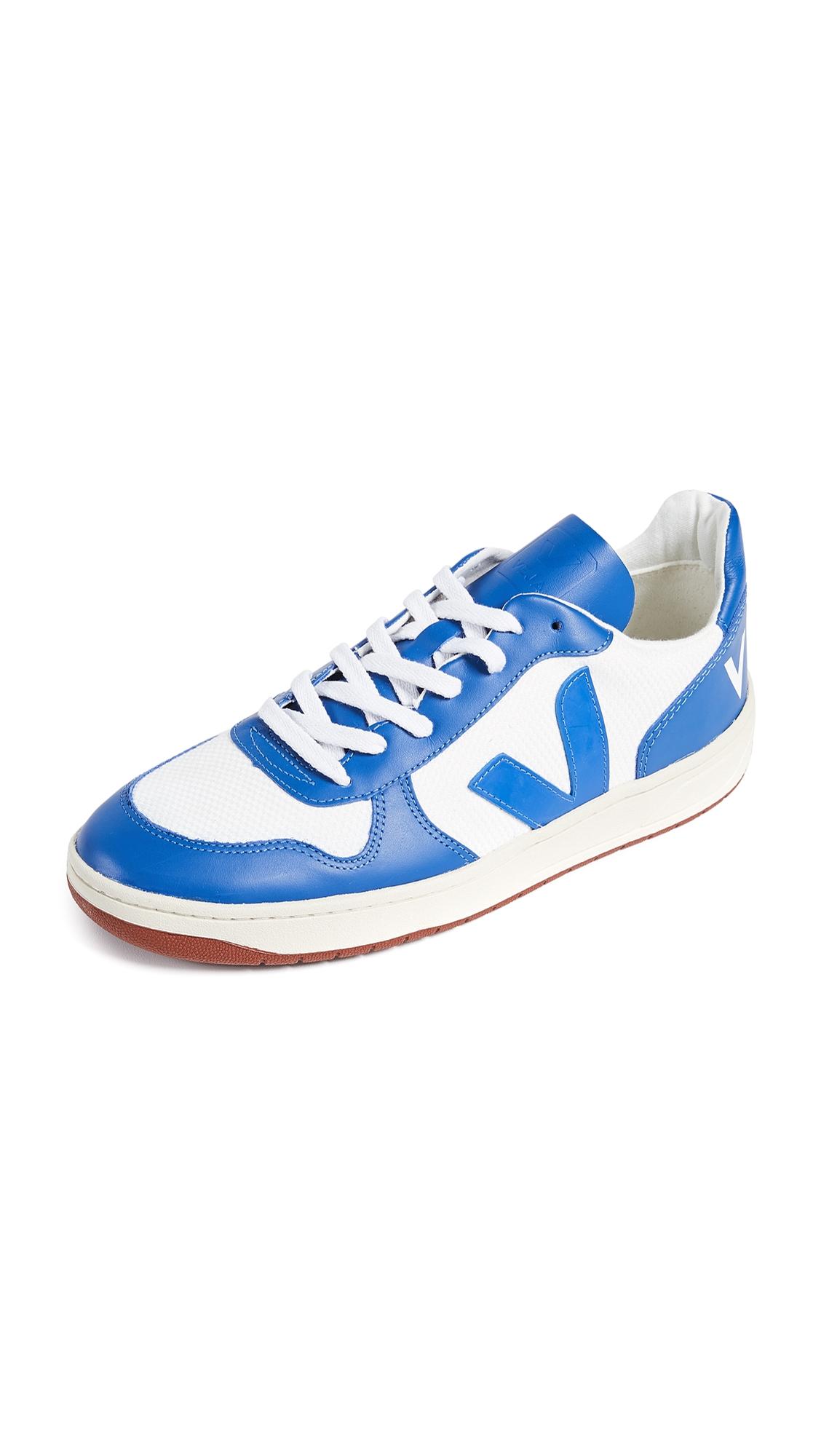 VEJA V10 Bastille Mesh Sneakers In Blue