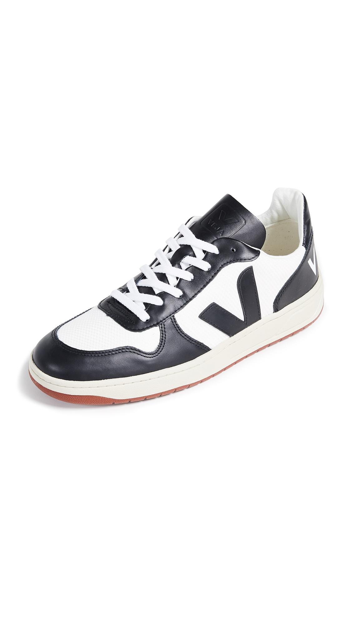 VEJA V10 Bastille Mesh Sneakers In Black
