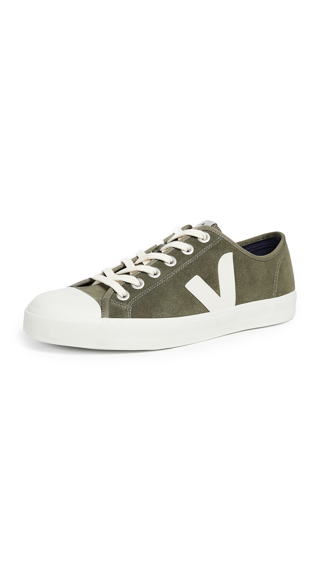 VEJA Wata Rubber-Trimmed Suede Sneakers - Army Green