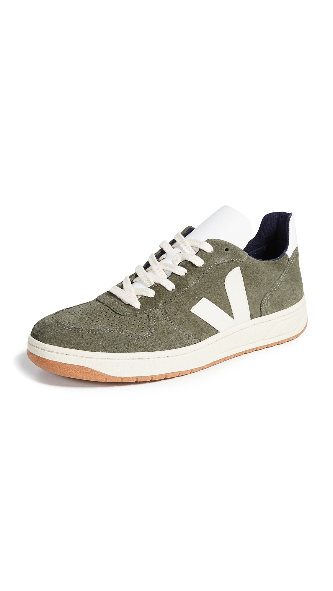 VEJA V-10 Suede Trainers in Green