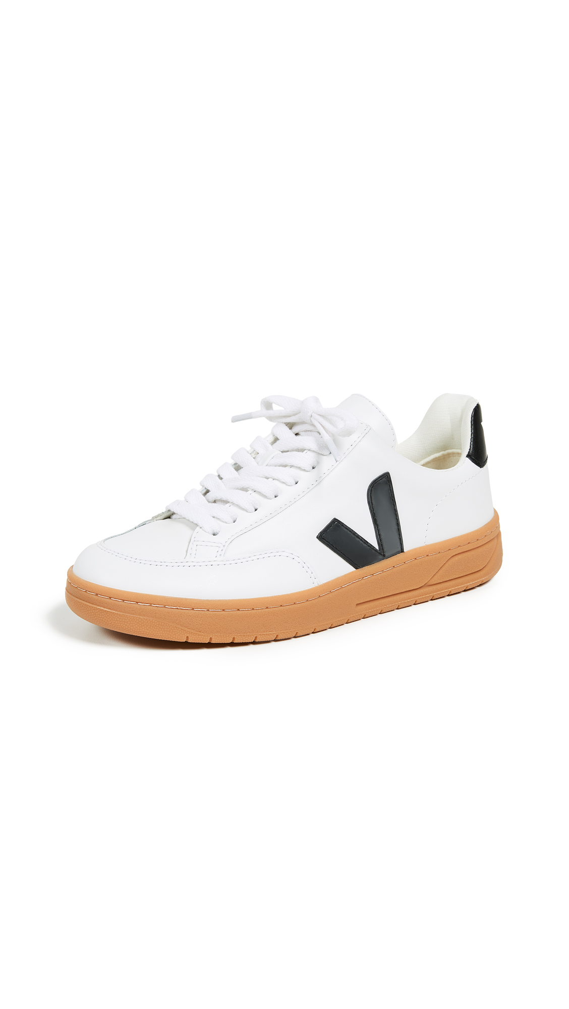 Veja V-12 Sneakers - Extra White/Black/Natural Sole
