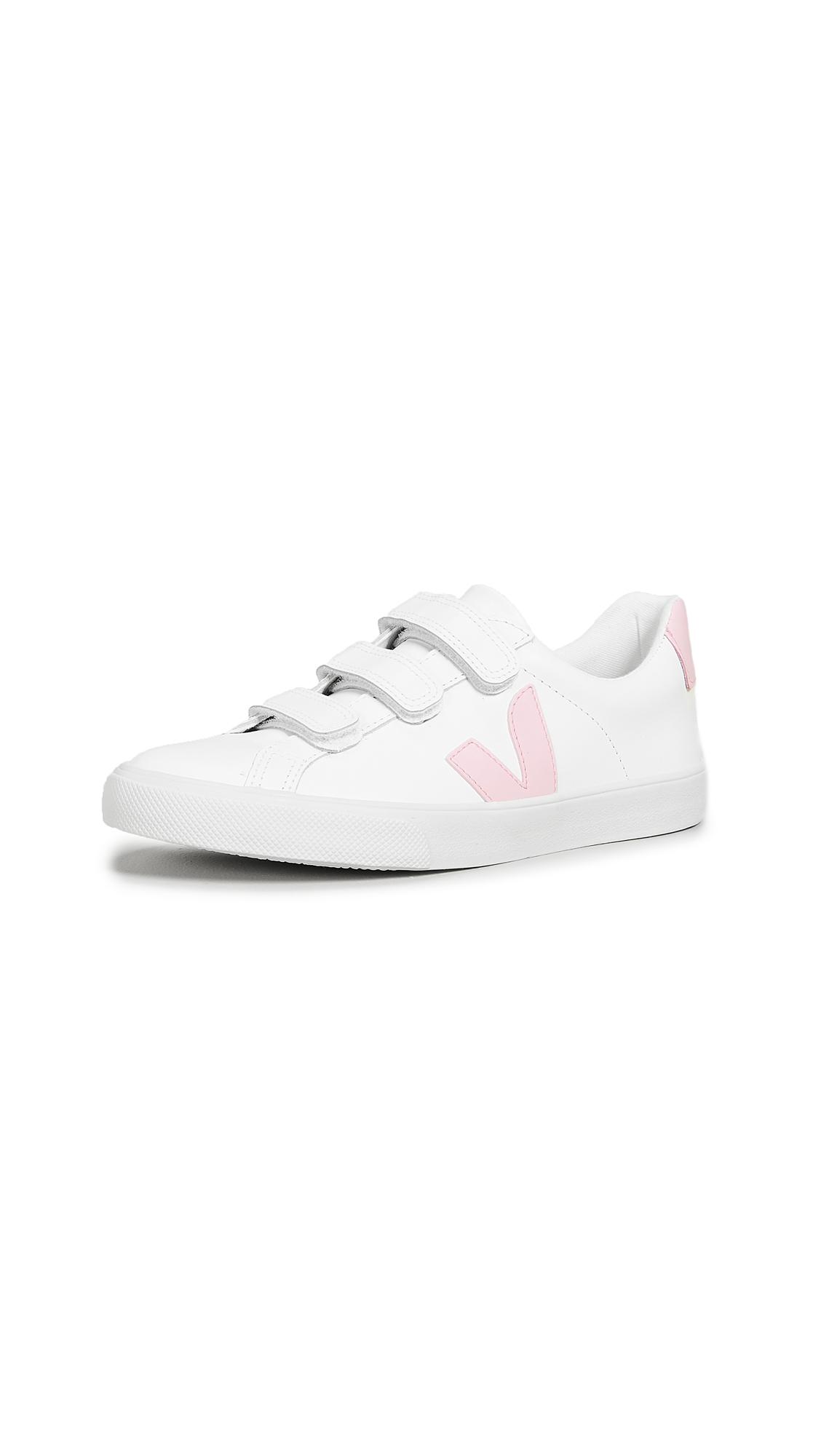 Veja 3-Lock Logo Sneakers - Extra White/Guimauve