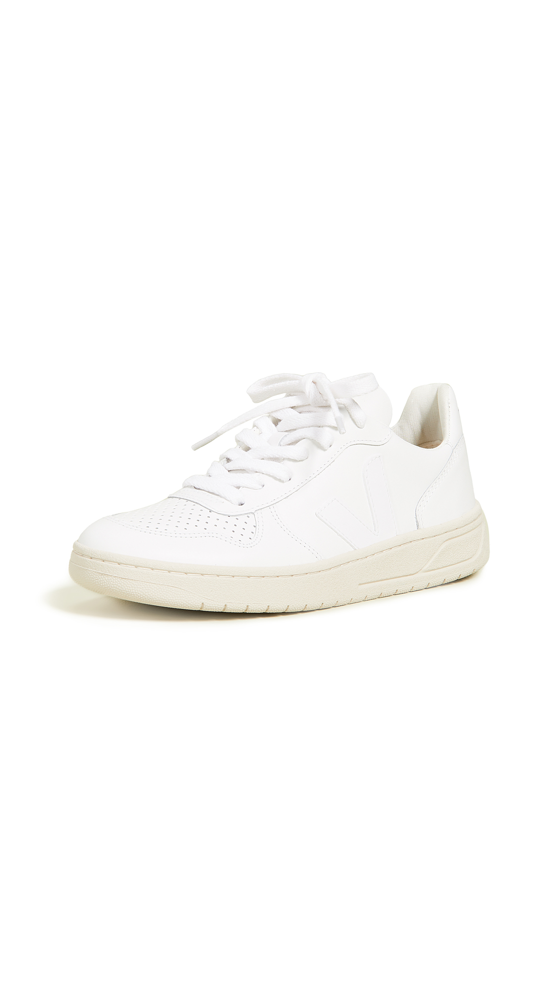 Veja V-10 Lace Up Sneakers - Extra White