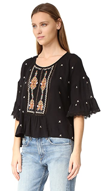 Velvet Alasdair Embroidered Top