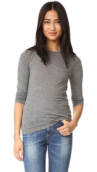 Velvet Zofina Long Sleeve Top In Charcoal Grey