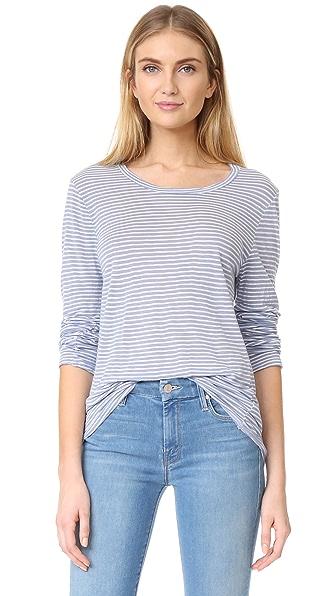 Velvet Cammy Stripe Pullover - Artic Blue