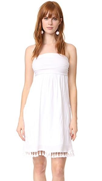 Velvet Monique Dress In White