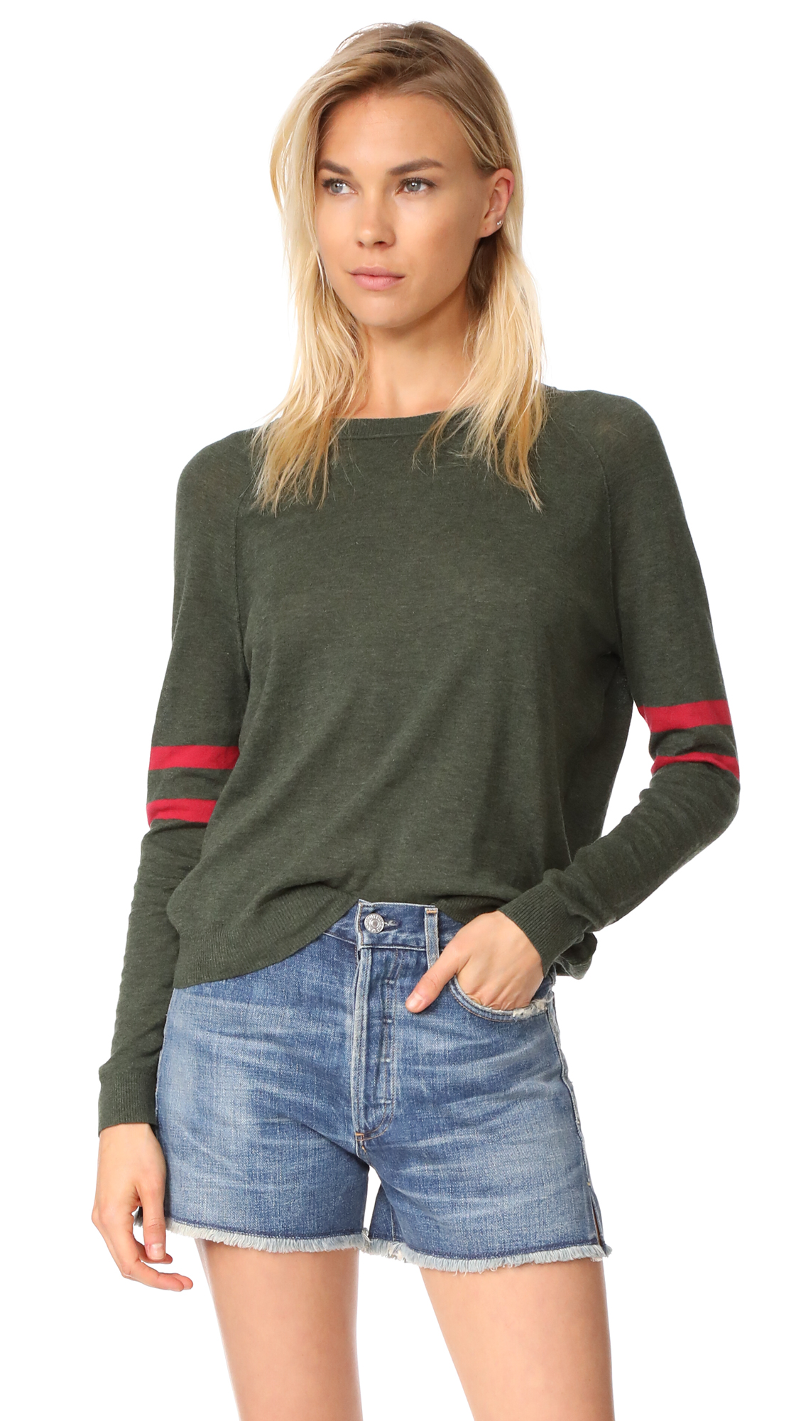 Velvet Theana Sweater In Army