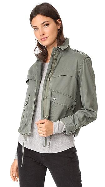 Velvet Mara Army Jacket In Clover