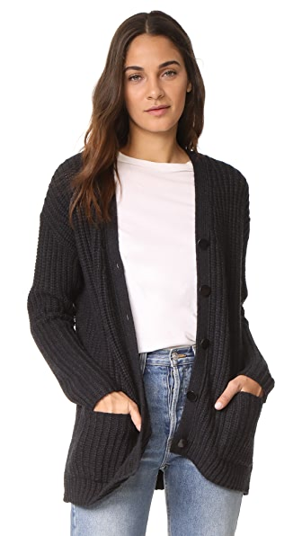 Velvet Trina Cardigan In Coal