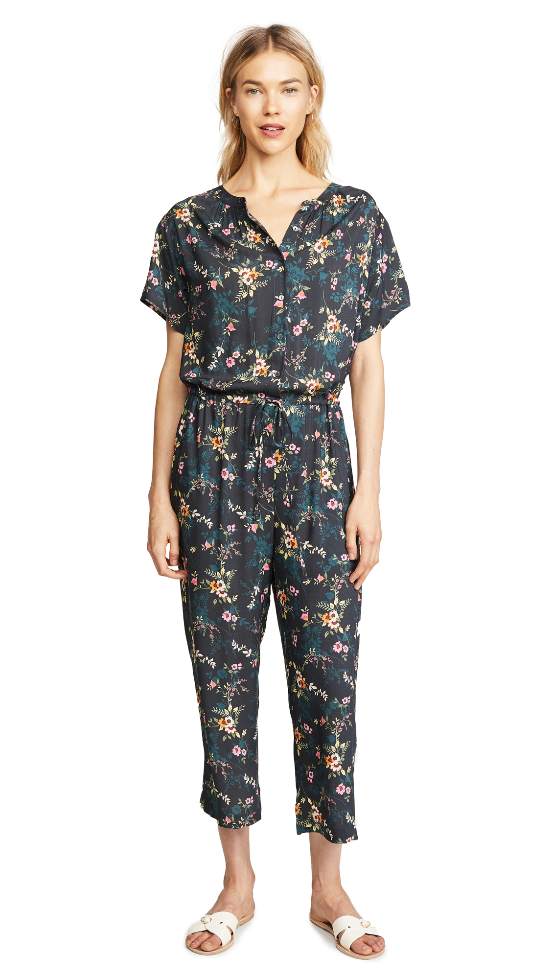 Velvet Joyce Floral Jumpsuit In Tropicana